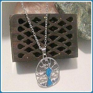 """""""Peace & Harmony"""" Tree of Life Blue Fire Opal"""